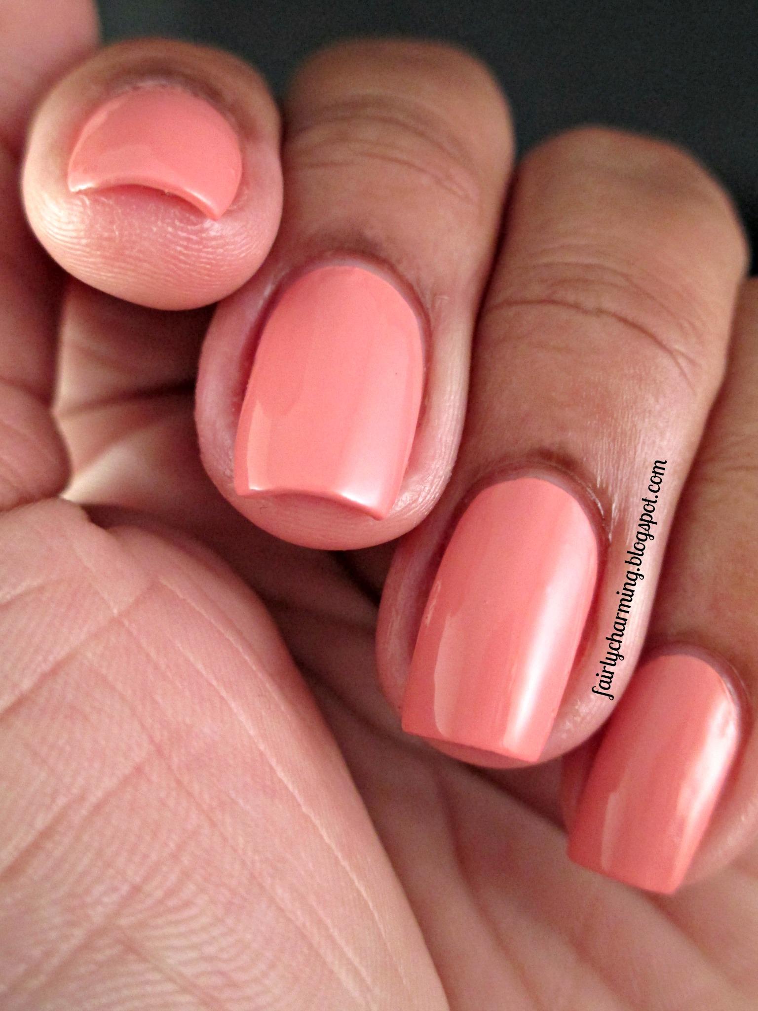 Sunset Boulevard - Peach Coral Pink Creme Nail Polish · Spellbound ...
