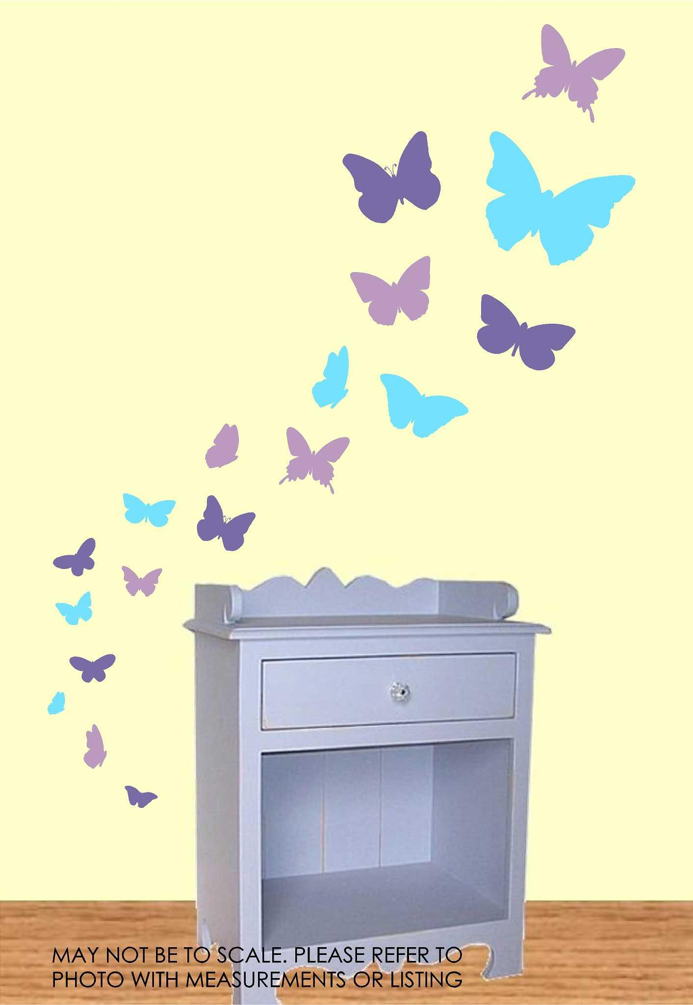 Butterfly Wall Decals 3 color · Wall Glitz · Online Store Powered by ...