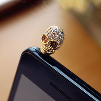 Skull 3.5mm iPhone 4 4S Anti-Dust Plug / Earphone Cap (2 Colors!)