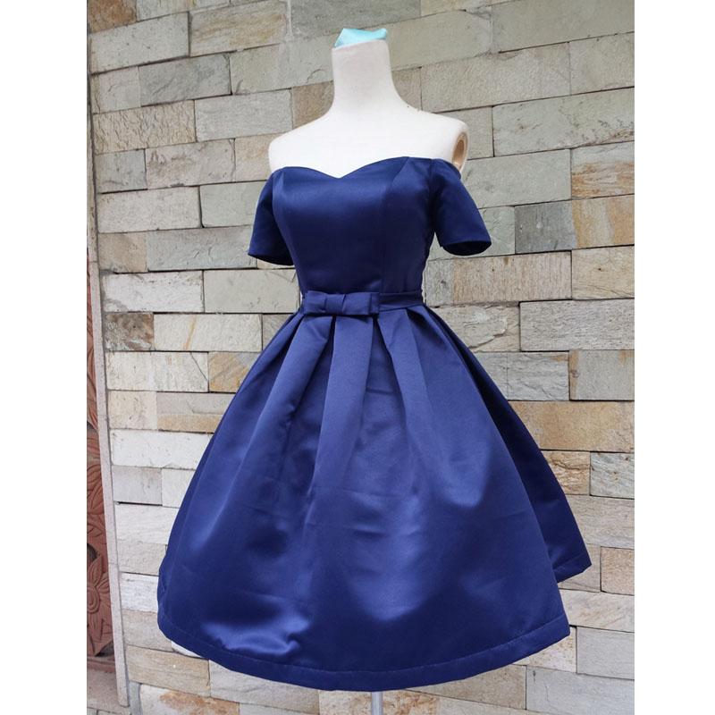 Short sleeve prom dress, junior prom dress, cute prom dress, cheap ...