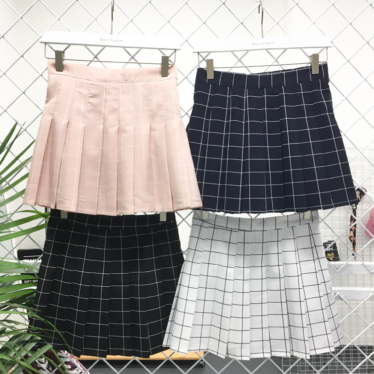 PLAID TENNIS SKIRT, GIRL'S HIGH WAIST SKIRT · Storeunic · Online ...