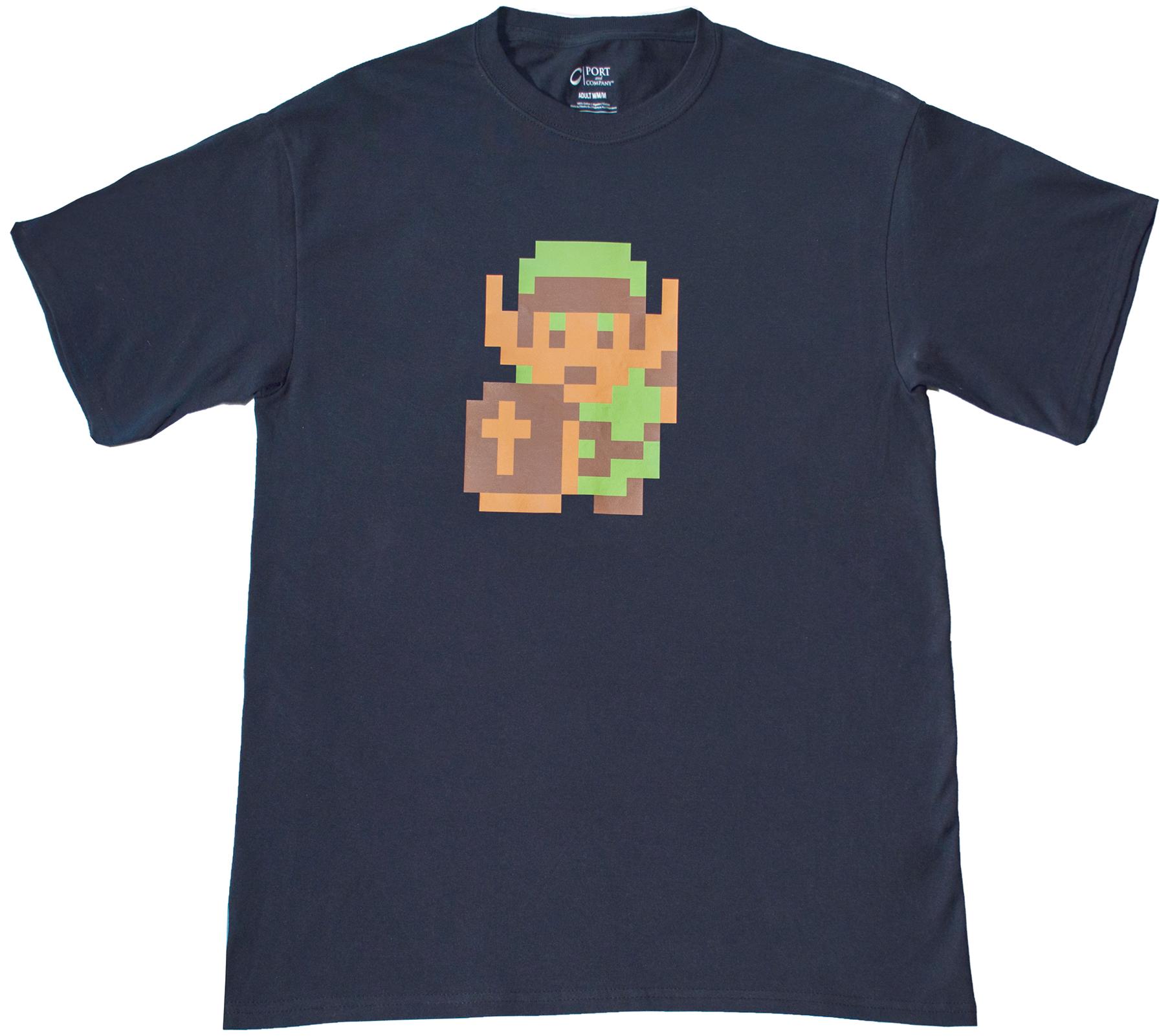 8 bit link zelda t shirt top notch custom apparel for Best online custom shirts