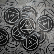 Pyramid Logo Stickers