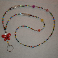 Beaded Lanyard Multicolor/Butterfly - Thumbnail 1