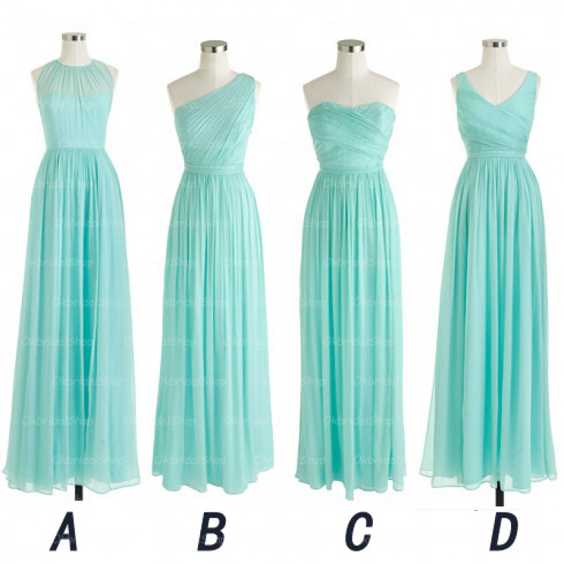 Long bridesmaid dresses, Mismatched bridesmaid dress, Cheap ...
