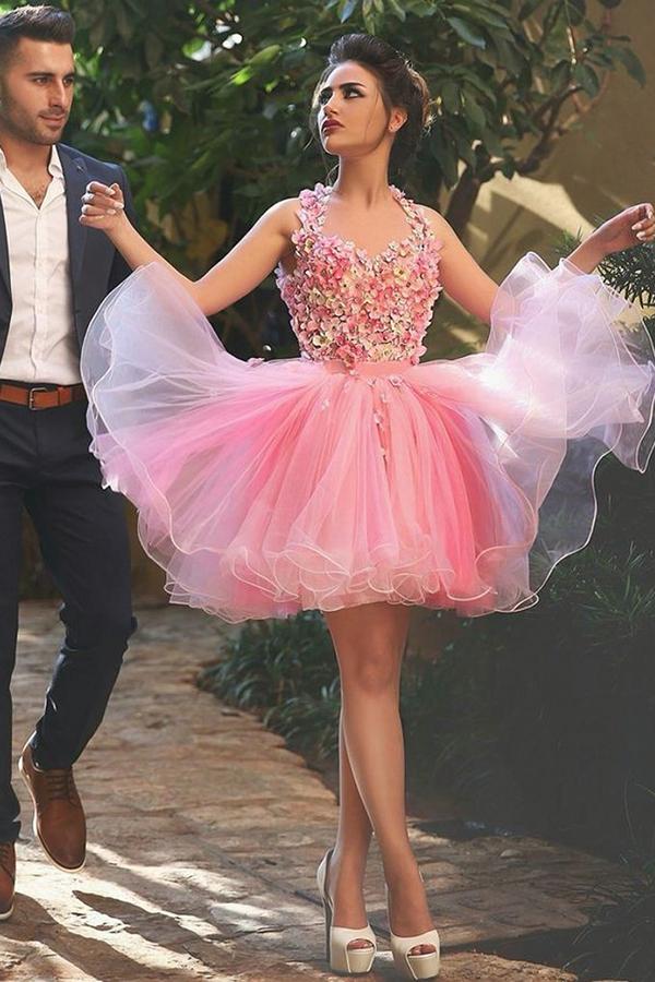 Appliques Homecoming Dress,Short Prom Dresses,Cocktail Dress ...