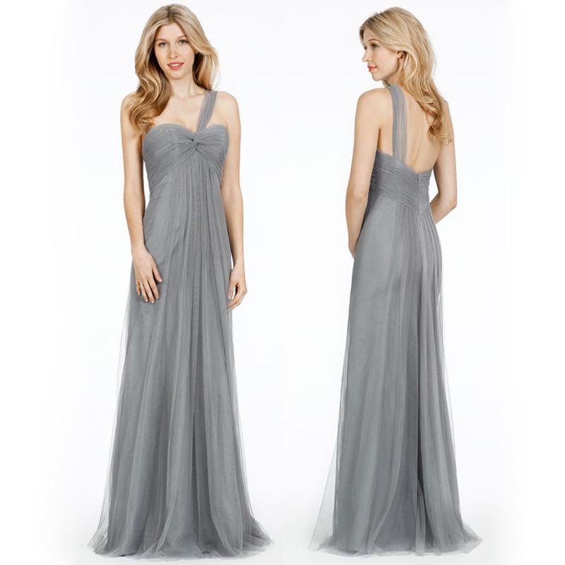 long bridesmaid dresses, convertible bridesmaid dresses, gray ...