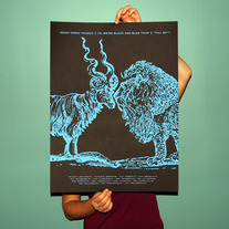 "18"" x 24"" TIL WE'RE BLACK AND BLUE FALL TOUR 2011 Hand-Silkscreened Poster"