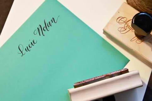 Custom calligraphy name stamp your name handwritten Calligraphy store