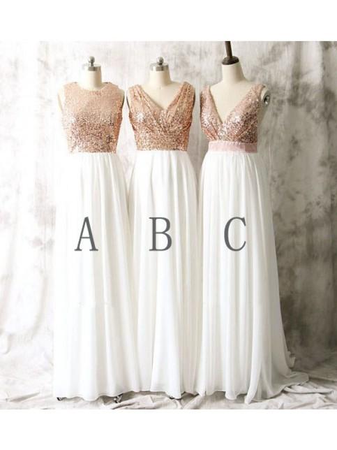 rose gold bridesmaid dresses sequin bridesmaid dresses