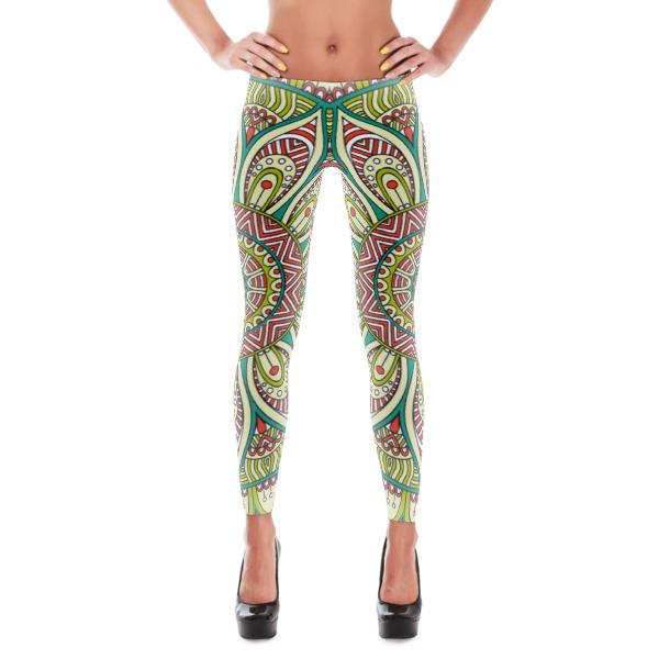 Green Scene 3 Exercise/Yoga Pants Leggings On Storenvy
