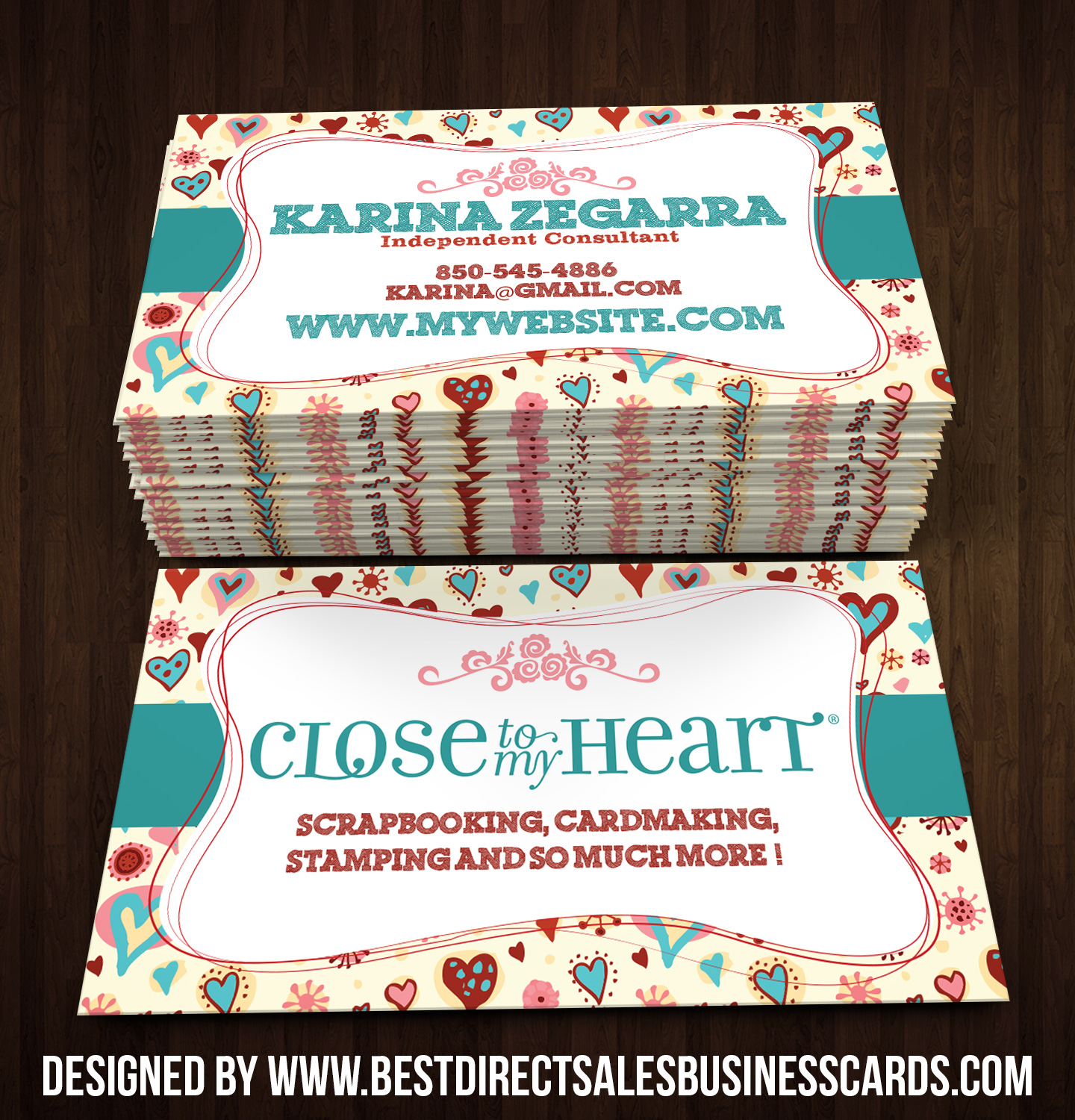 Close to my Heart Business Cards style 4 · KZ Creative Services