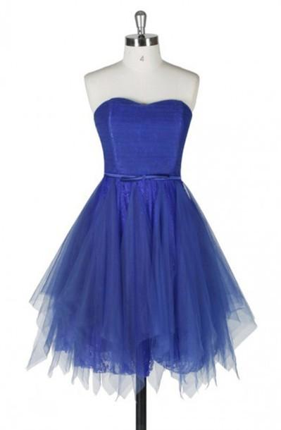 Charming Royal Blue Petty Homecoming Dress,Short Prom Dresses ...