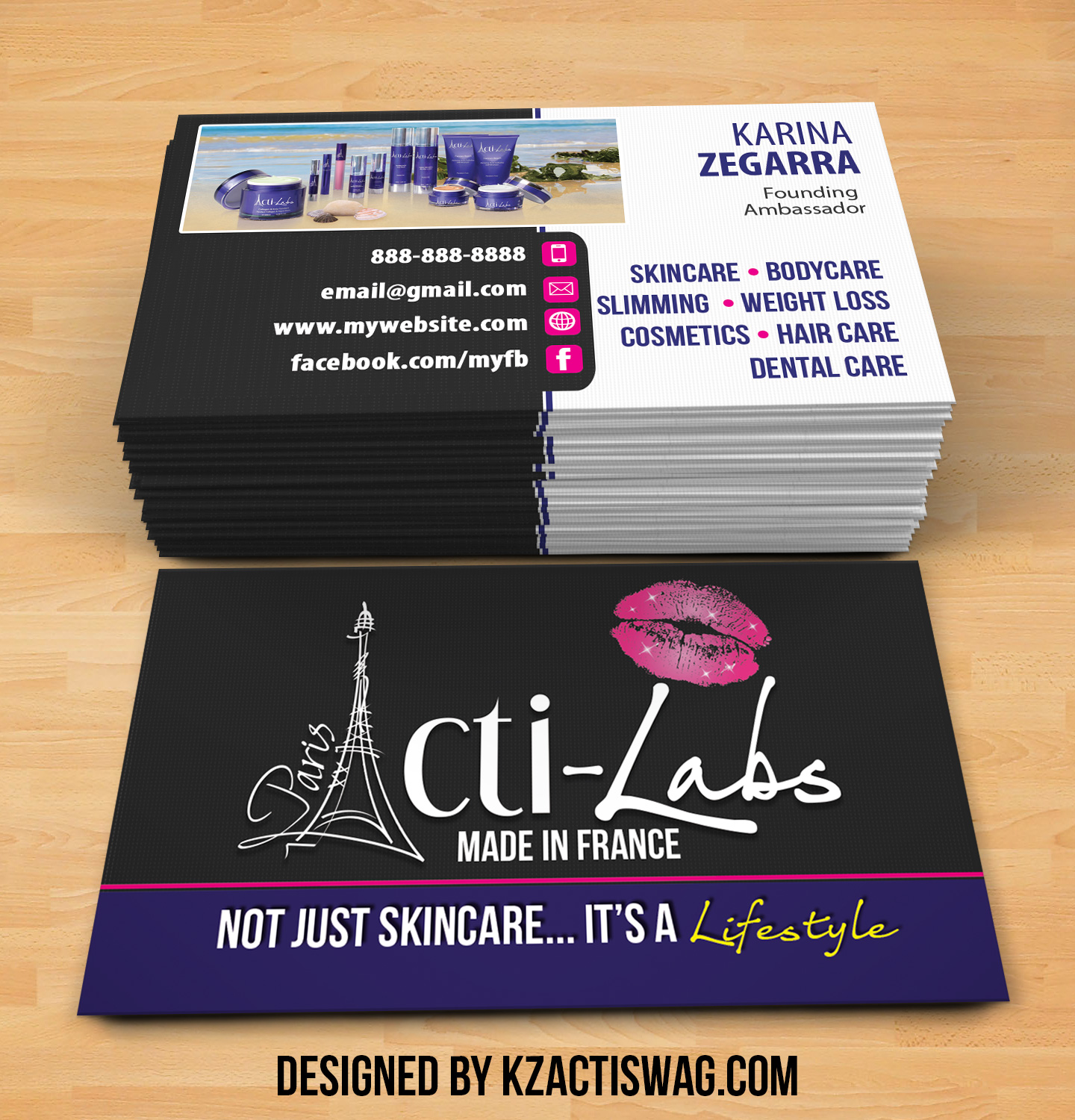 Acti Labs Business Cards 6 · KZ Creative Services · line Store