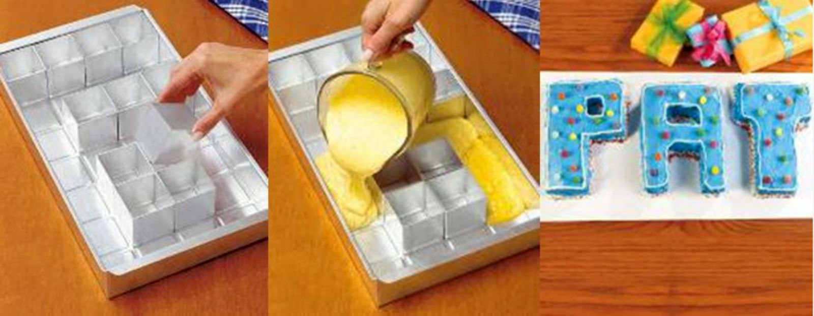 Design Your Own Cake Mold : Letter Cake Pan Rectangular Shape Set Can Make Different ...