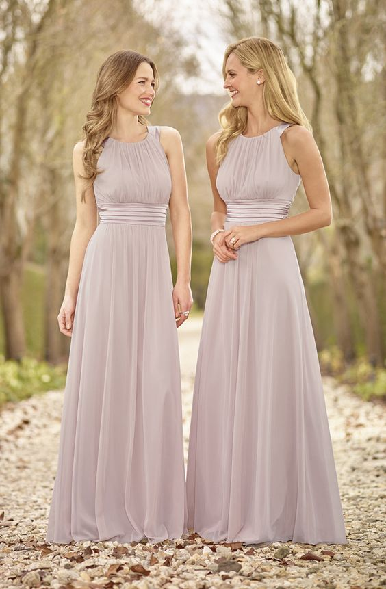 Halter Chiffon Bridesmaid Dresses, Cheap Bridesmaid Dresses, Long Bridesmaid  Dresses, Cute Bridesmaid Dresses
