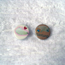 Pair of Baby Seals Button Pins