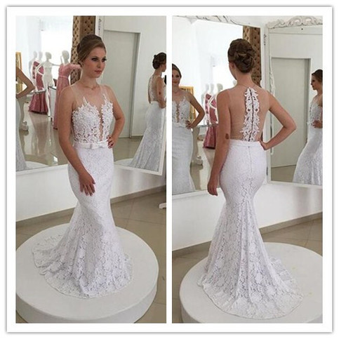 Lace mermaid wedding dress pwd0059 on storenvy for Best lace wedding dress designers