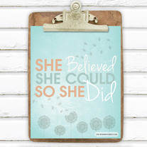 She Believed She Could... 8x10 Art Print