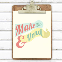 Make Do and Mend 8x10 Print