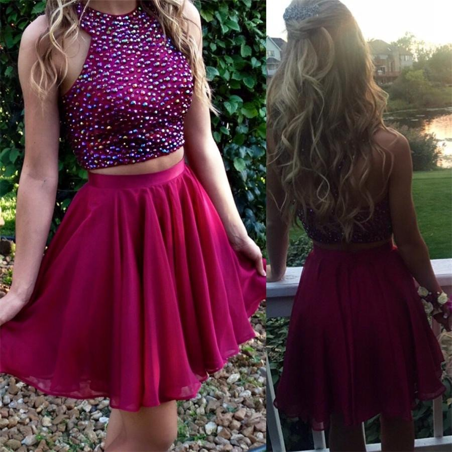 Two Pieces Homecoming Dresses Short Party Dress for Prom pst1347 ...