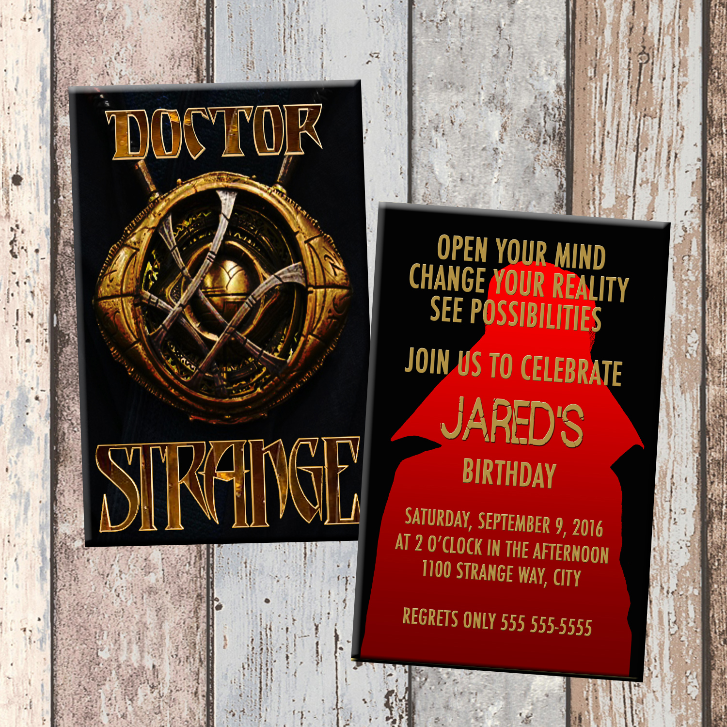 Dr Strange Doctor Strange Superhero Personalized Birthday – Strange Birthday Card