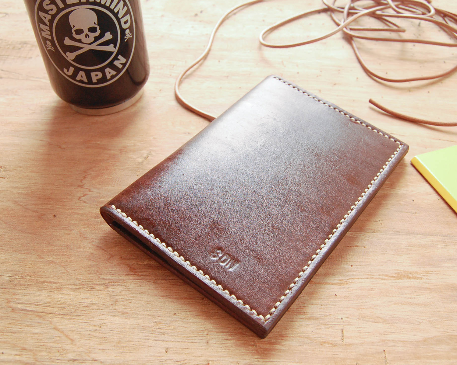 Leather Passport Wallet - Minimalist hand sewn card holder cover ...
