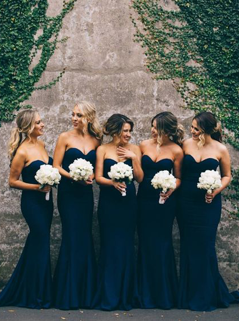 Gorgeous mermaid long navy blue strapless bridesmaid dress gorgeous mermaid long navy blue strapless bridesmaid dress ombrellifo Images