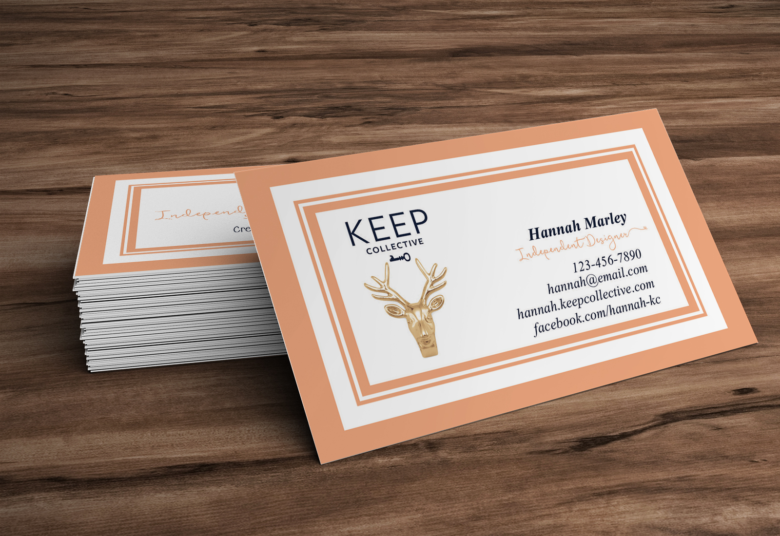 Keep Collective Business Cards · Hearts & Arrows Design · Online ...
