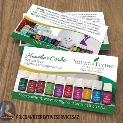 young living business card 4 kz creative services online store