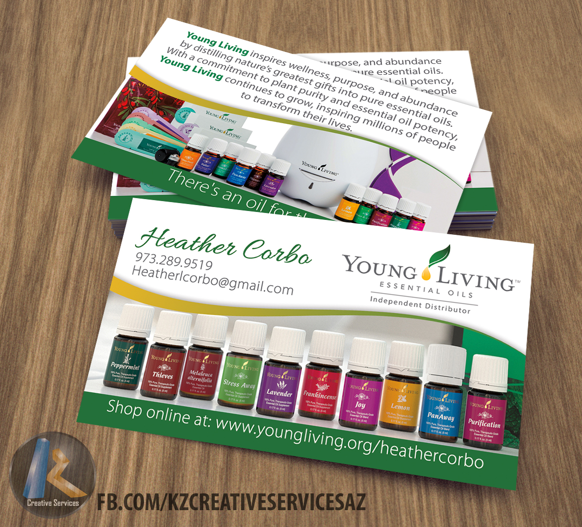 Young Living Business Card 4 · KZ Creative Services