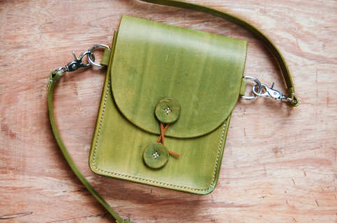Handmade Leather Fanny Pack Minimalist Mens Womens Waist