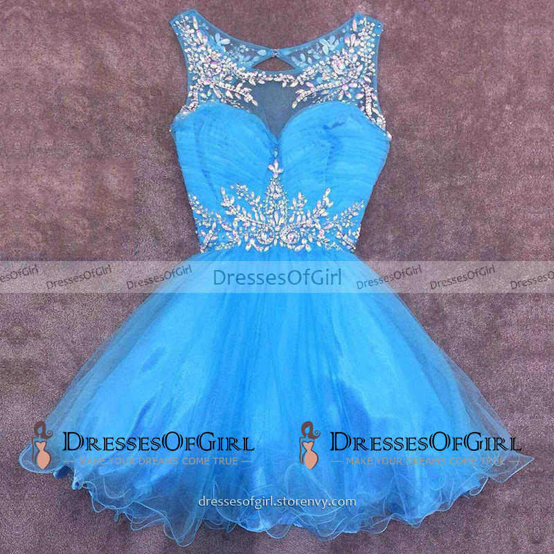 Bateau Neck Yellow Short Prom Dress 8491c5e5d