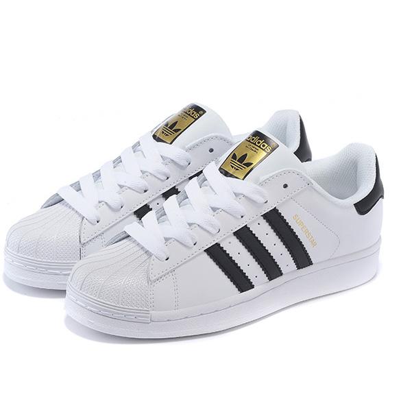 Moda adidas superstar bianco classico nero oro scarpe casual