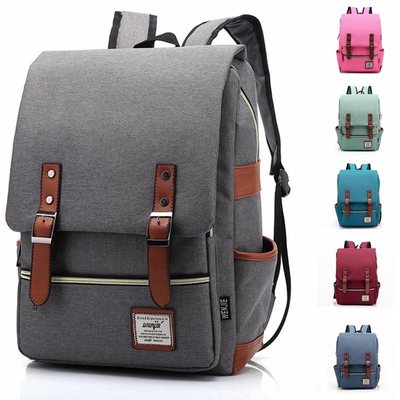 Fashion Men Women Unisex Vintage Casual Canvas Backpack Lovers Travel Bags  Satchel School Bags 4810fef76a