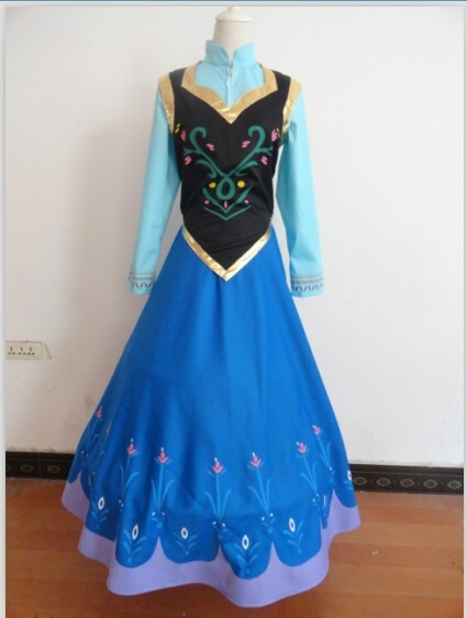 2014 disney frozen anna outfit wig dress cape anna - Robe disney adulte ...