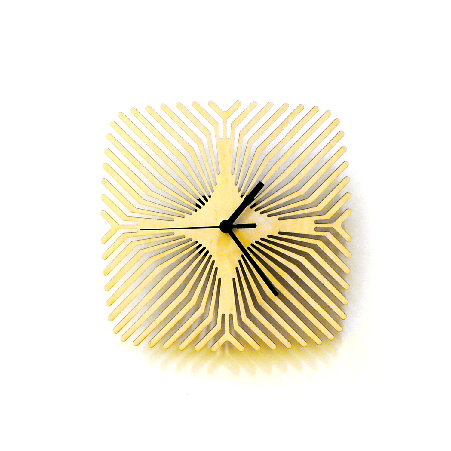 Spider - raw colored modern wooden wall clock · ardeola · Online ...