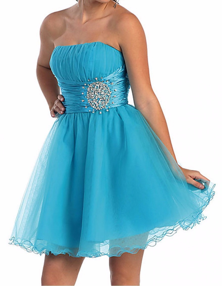 Pretty A-line Blue Party dress, Short Tulle Homecoming Dress, FS8763 ...