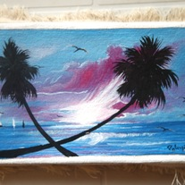 Beach Painting by Patrick