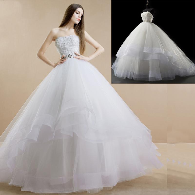 A241 Romantic Wedding Dress Tulle Wedding Dress Sweetheart Wedding ...
