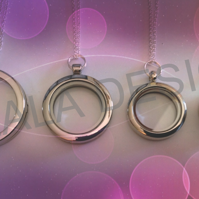 Lala round circle lockets