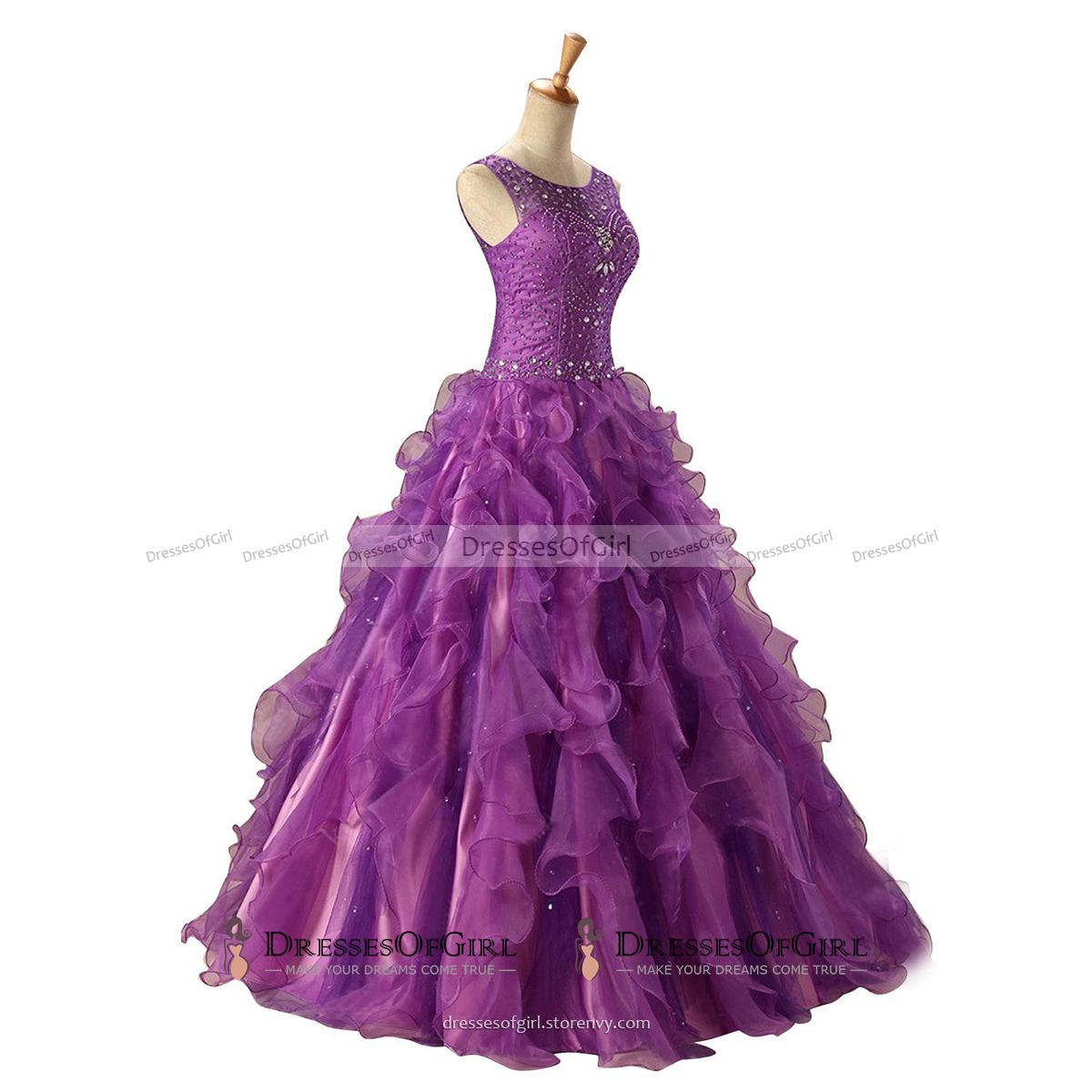Purple Long Prom Dress