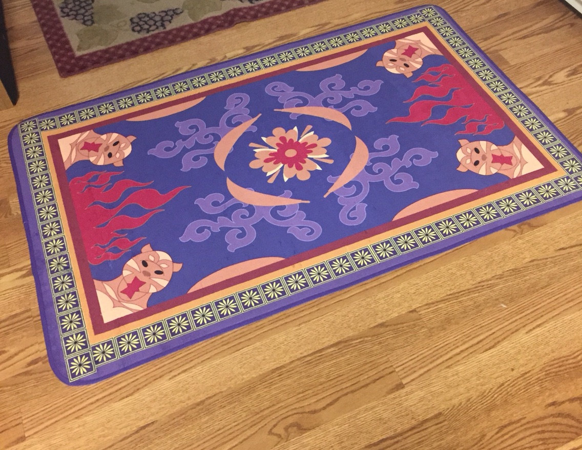 aladdin's magic carpet rug or bath mat - kids disney inspired