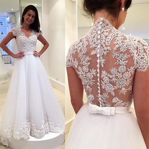 Wd44 new arrival lace wedding dresses wedding dress custom for Wedding dress shops in dc