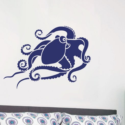 Octopus Wall Art Stencil   Easy DIY Wall Décor   Reusable Stencils For Walls    Better
