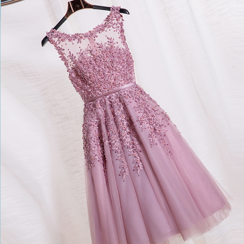 Little Cute | Charming A-line lace short prom dress,homecoming dres ...