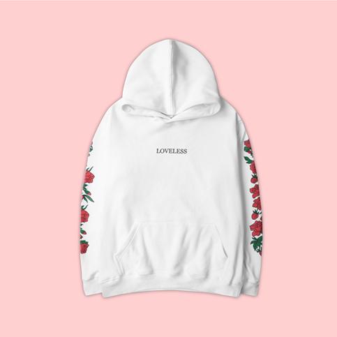 Unisex Vaporwave Loveless Rose Hoodies In White On Storenvy