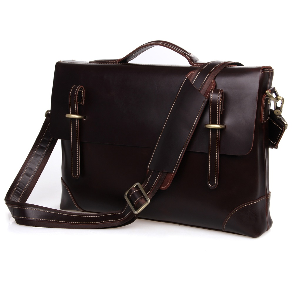 Cow Leather Mens Messenger Bag Office Tote Birthday Gifts FREE SHIPPING