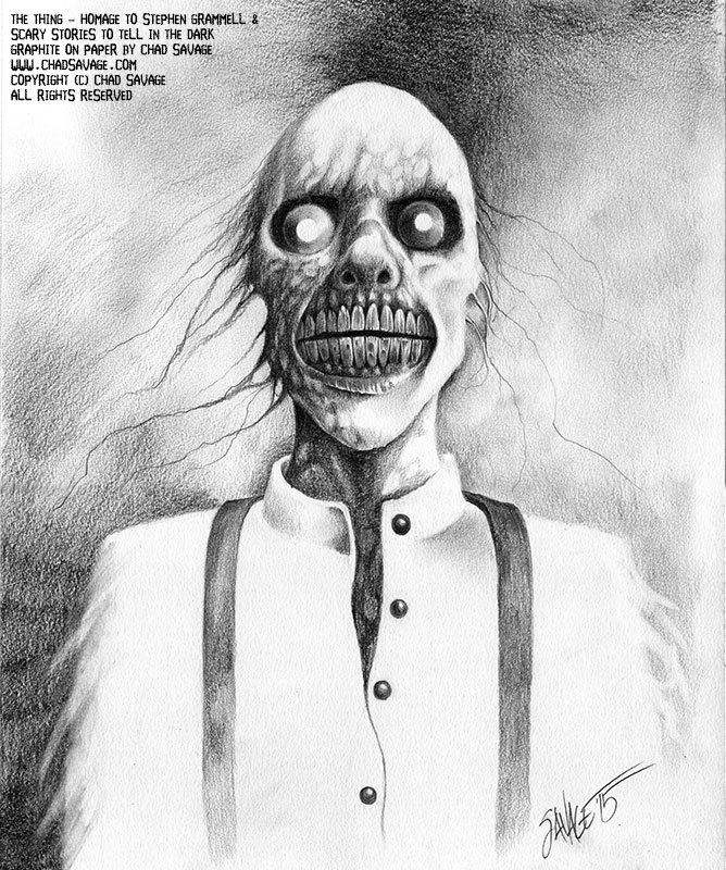 The Thing Original Drawing Ode To Stephen Gammell And