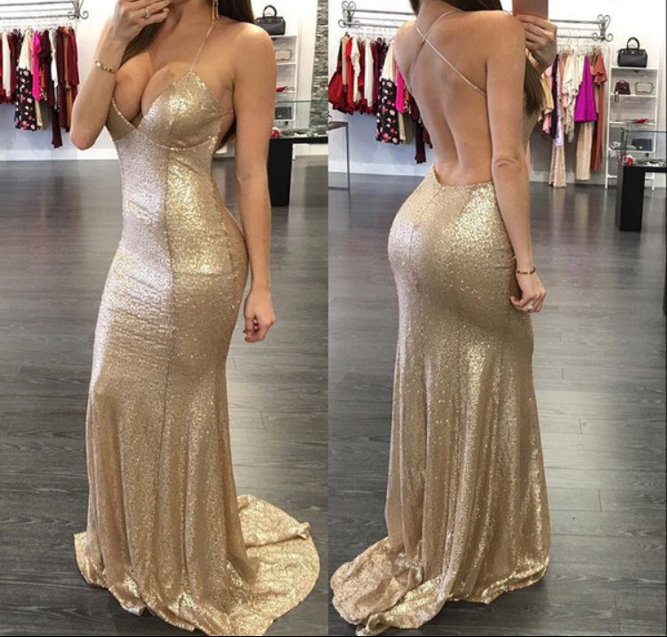 prom sequin Sexy dress long